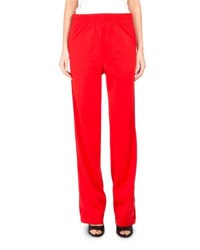 Givenchy Neoprene Logo Branded Track Pants Red