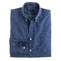 J.Crew Secret Wash Shirt In Daisy Floral Imperial Blue