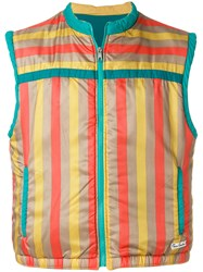 Pierre Cardin Vintage Striped Padded Gilet Multicolour