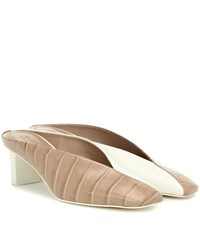 Mercedes Castillo Alenna Leather Mules Beige