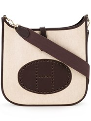 Hermes Vintage Evelyne Gm Shoulder Bag Nude And Neutrals