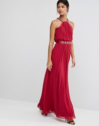 Coast Juliette Maxi Dress Burgundy Red