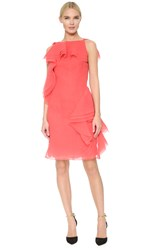 Jason Wu Asymmetrical Ruffle Dress Berry