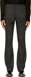 Siki Im Black Houndstooth Boot Cut Trousers