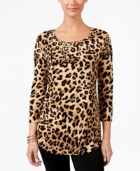 Jm Collection Printed T Shirt Only At Macy's Cheetah Zoo