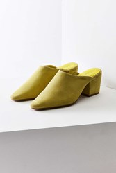 Urban Outfitters Becky Suede Pointy Toe Mule Lime