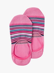 Paul Smith Stripe No Show Socks Pink Multi