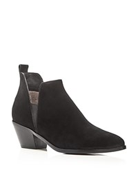 Sigerson Morrison Belin Cutout Side Booties Black