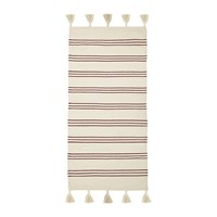 Bloomingville Striped Rug 120X60cm Natural Red