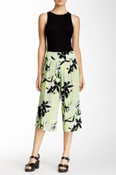 Hip Printed Gaucho Pant Juniors Green