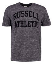 Russell Athletic Print Tshirt Charcoal Grey Dark Grey