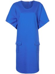 Harvey Faircloth Oversized Midi Dress Blue