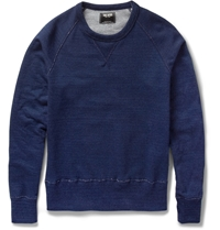 Todd Snyder Loopback Cotton Jersey Sweatshirt Blue