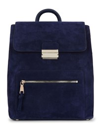 Jaeger Gracie Suede Backpack Blue