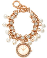Charter Club Women's Rose Gold Tone Toggle Bracelet Watch 36Mm Created For Macy's