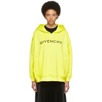 Givenchy Yellow Logo Hoodie 730 Yellow