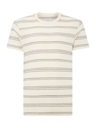 Peter Werth Ginsberg Two Colour Crafted Polo Shirt Ecru