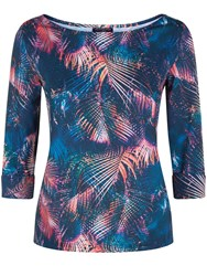 Hotsquash Print Top With Clevertech Teal