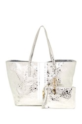 Cynthia Rowley Hayden Leather Tote Metallic