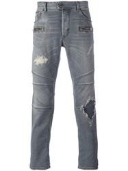 Just Cavalli Distressed Skinny Jeans Grey