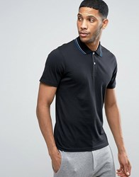 Produkt Polo Shirt With Twin Tip Collar Black