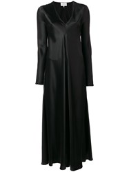 Maison Martin Margiela Silk V Neck Gown Black