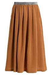 Only Stuviolet Pleated Skirt Rubber Brown