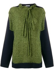 J.W.Anderson Jw Anderson Paneled Sweater Green