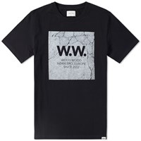 Wood Wood Concrete Square Tee Black