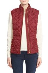 Women's Burberry Brit 'Tindale' Quilted Vest Carmine Red