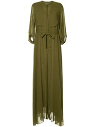 Maison Rabih Kayrouz Tie Waist Maxi Dress Green
