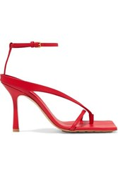 Bottega Veneta Leather Sandals Red