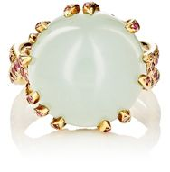 Sharon Khazzam Women's Aquamarine Cabochon Cocktail Ring Colorless