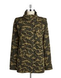 Design Lab Lord And Taylor Camoflauge Military Jacket Army Green