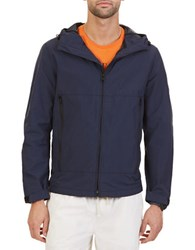 Nautica Hooded Bomber Jacket Blue