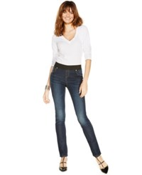 Inc International Concepts Curvy Fit Pull On Skinny Jeggings Sunday Wash