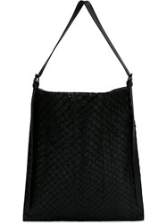 Osklen Pirarucu Leather Tote Black