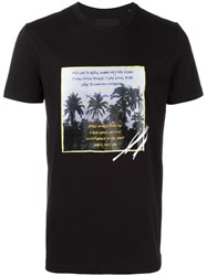 Blood Brother Palm Trees Print T Shirt Black