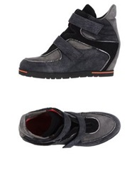 Pas De Rouge High Tops And Trainers Steel Grey