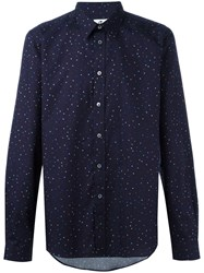 Paul Smith Ps By Allover Dots Print Shirt Pink Purple