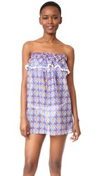 Milly Mosaic Print Cover Up Dress Multi