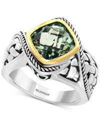 Effy Balissima Green Amethyst Ring 3 1 10 Ct. T.W. In Sterling Silver And 18K Gold