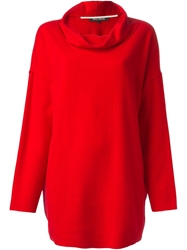 Ter Et Bantine Cowl Neck Loose Fit Sweater Red