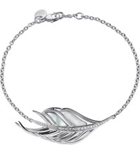 Shaun Leane White Feather Diamond And Mother Of Pearl Bracelet