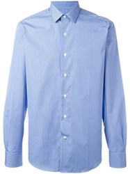 Lanvin Pinstripe Long Sleeved Shirt Blue