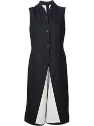 Forme D'expression Single Breasted Long Waistcoat Black