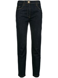 Boutique Moschino Cropped Jeans Blue