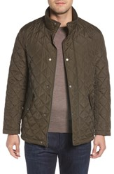 Cole Haan Diamond Quilted Jacket Olive