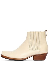 Our Legacy Cuban Leather Boots White