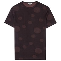 Reiss Strobe Printed Spot T Shirt Bordeaux